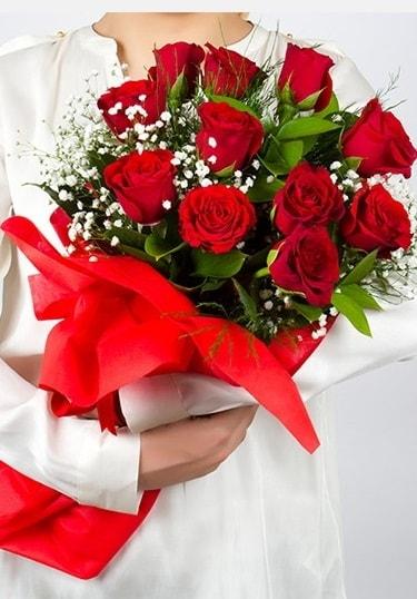Aşk Gülleri 11 Adet kırmızı gül buketi  Kastamonu çiçekçi telefonları