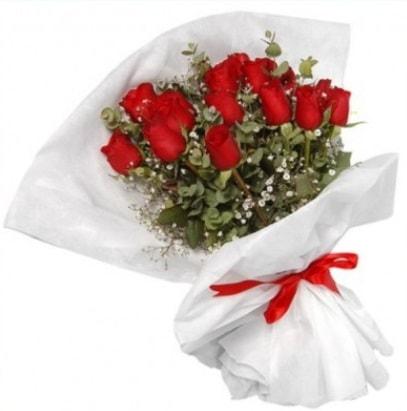 9 adet kırmızı gül buketi  Kastamonu çiçekçi mağazası