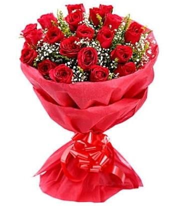 21 adet kırmızı gülden modern buket  Kastamonu çiçek gönderme