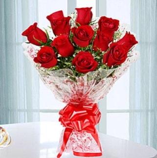 11 adet kırmızı gülden görsel şık buket  Kastamonu ucuz çiçek gönder