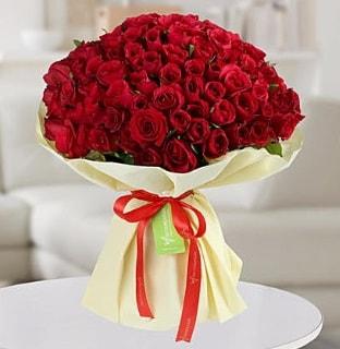 101 adet kırmızı gül buketi koca demet  Kastamonu internetten çiçek siparişi