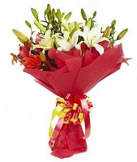 5 dal kazanlanka lilyum buketi  Kastamonu çiçek gönderme sitemiz güvenlidir