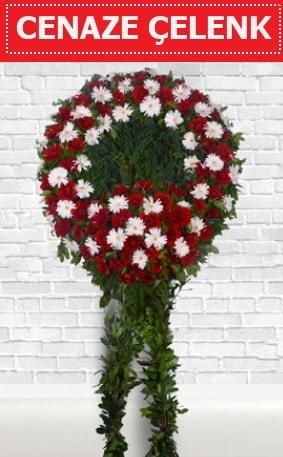 Kırmızı Beyaz Çelenk Cenaze çiçeği  Kastamonu İnternetten çiçek siparişi