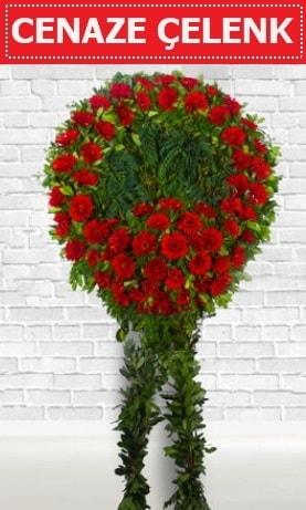 Kırmızı Çelenk Cenaze çiçeği  Kastamonu İnternetten çiçek siparişi