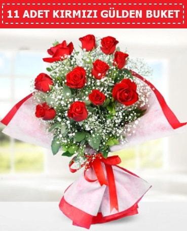 11 Adet Kırmızı Gül Buketi  Kastamonu internetten çiçek siparişi
