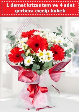 Krizantem ve Gerbera Buketi  Kastamonu çiçek siparişi sitesi