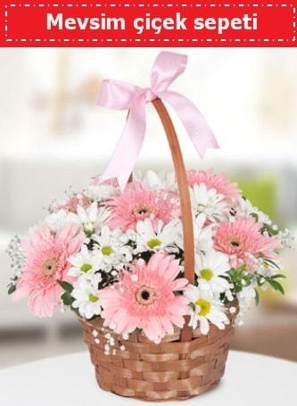 Mevsim kır çiçek sepeti  Kastamonu çiçek , çiçekçi , çiçekçilik